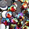 Acrylic Round Flat Back Rhinestones 20mm Red Aurora Borealis 200pcs/bag